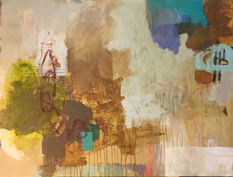 "mixed media on canvas/ 30"" x 40"""