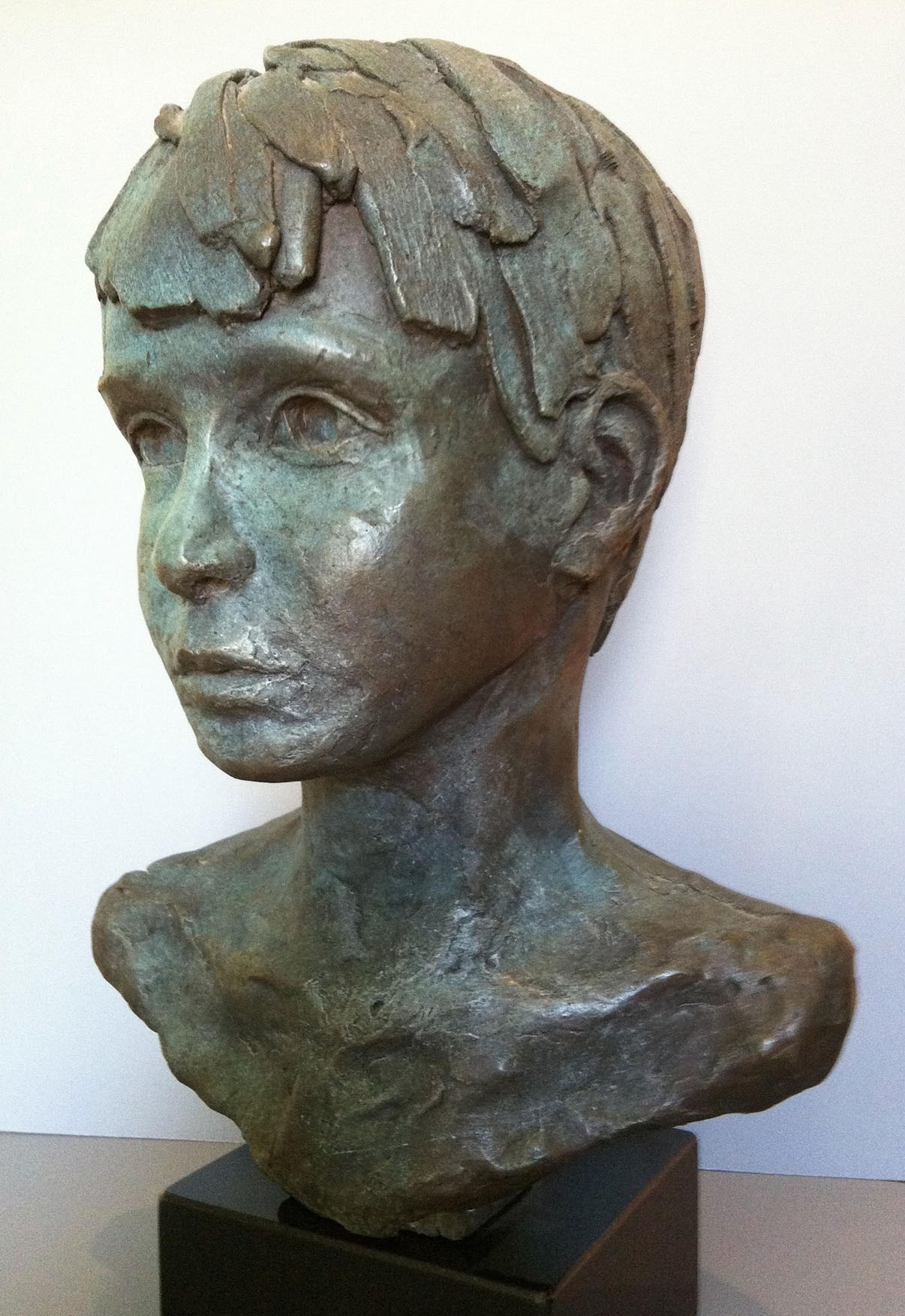 "CHRIS/ cast bronze/ 20""x16"""