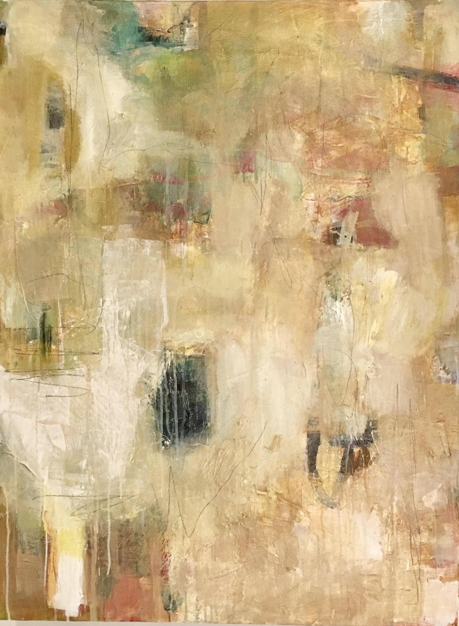"STELLA/ mixed media on canvas/ 40"" x 30"""