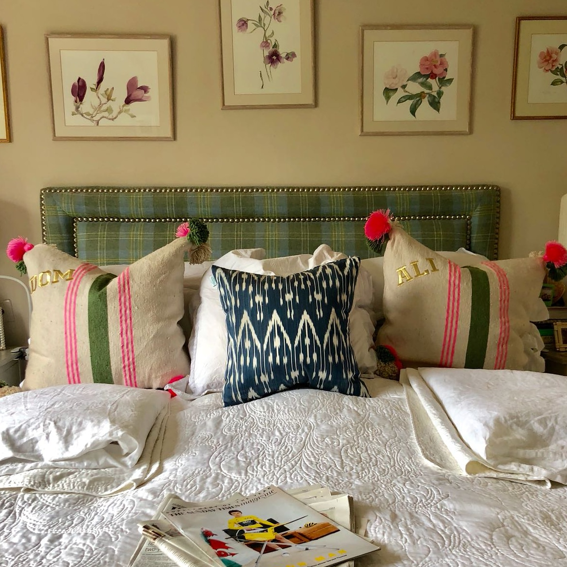 Shop our  cushions here  (and add your favourite monogramming).
