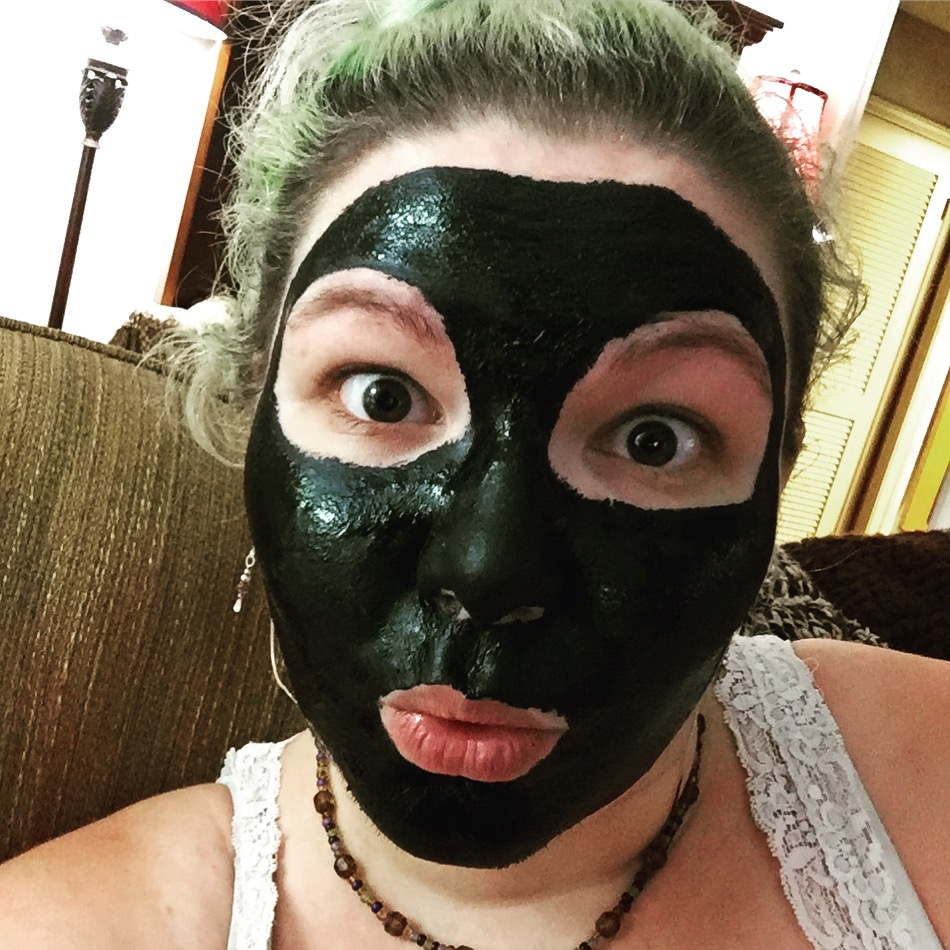 Here's my diy version of those peel-off charcoal mask. Mix a teaspoon activated charcoal, 4-5 tablespoons non-toxic clear glue, and your favorite essential oil (only a drop or 2) until completely emulsified. My go to's are always lavender and lemon. Apply with your fingers or brush and allow to completely dry then gently peel off.