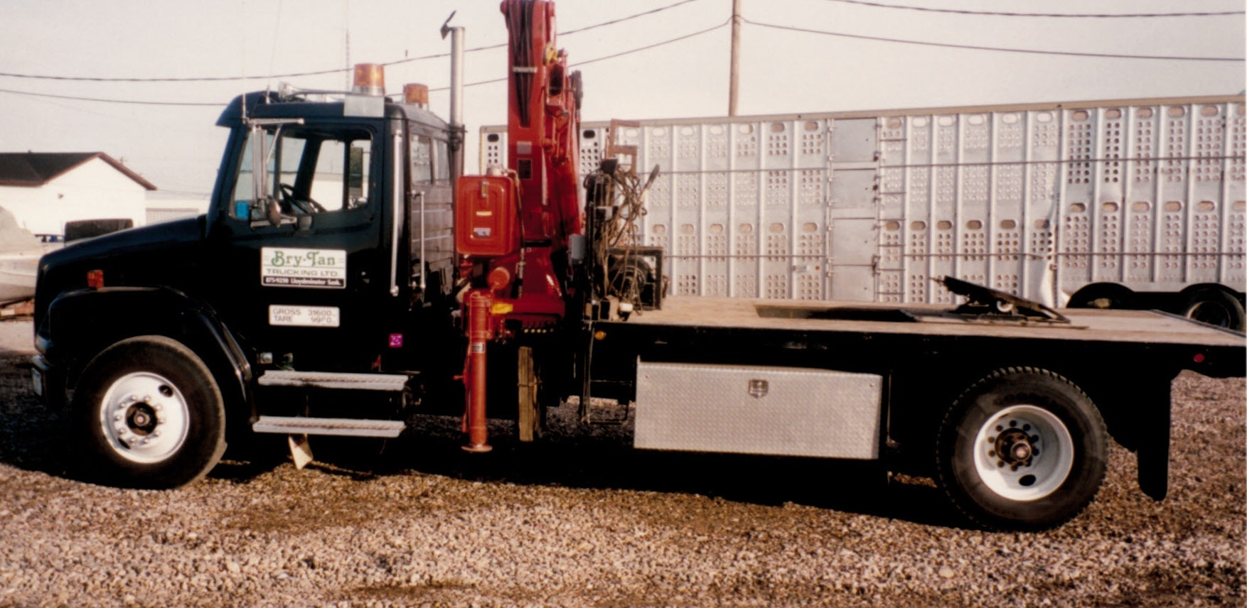 1994 - 7.5 TON HOT SHOT TRUCK WITH PICKER