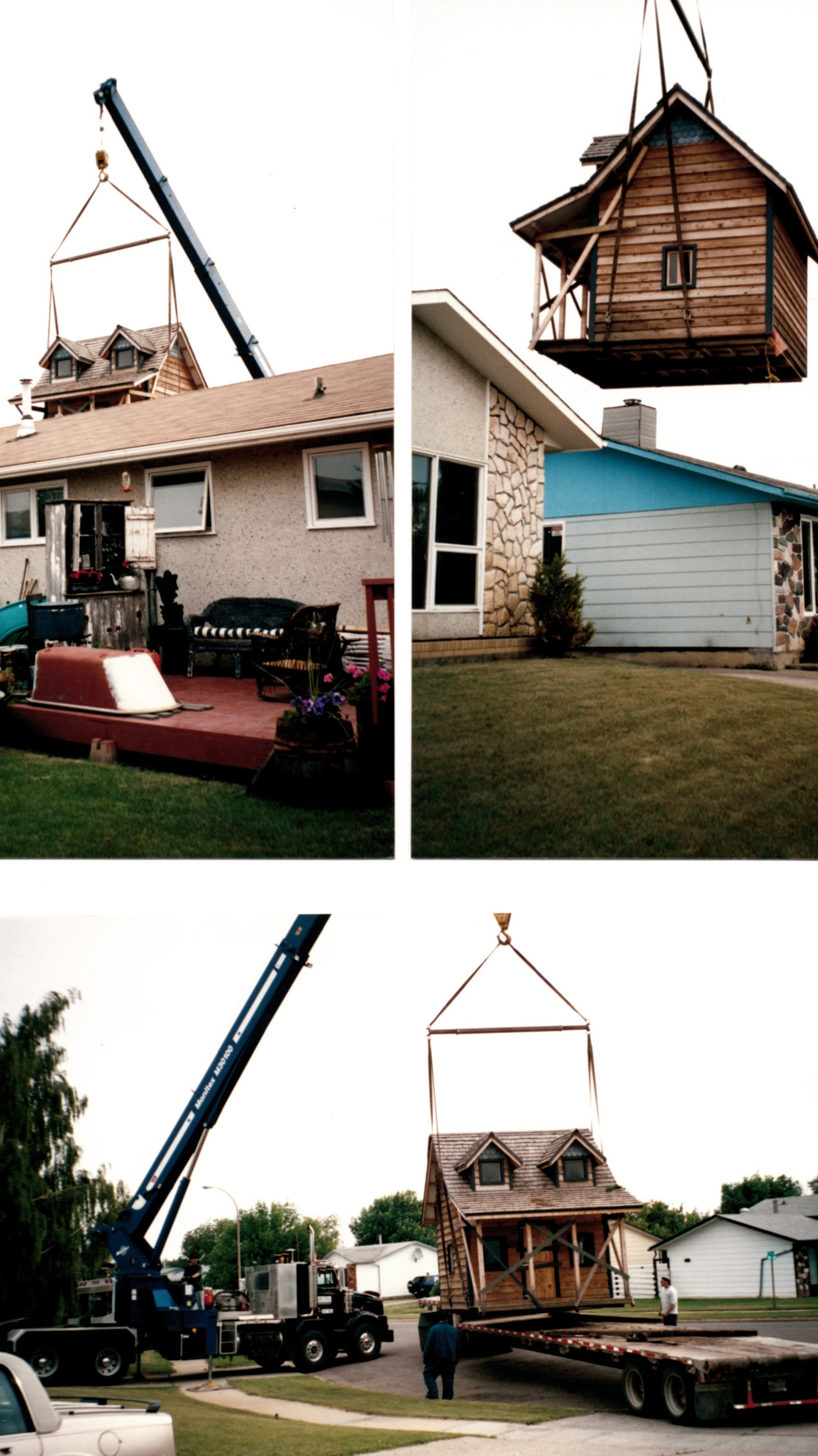 2000 - 30 TON PICKER - INSTALLING PLAY HOUSE IN BACK YARD