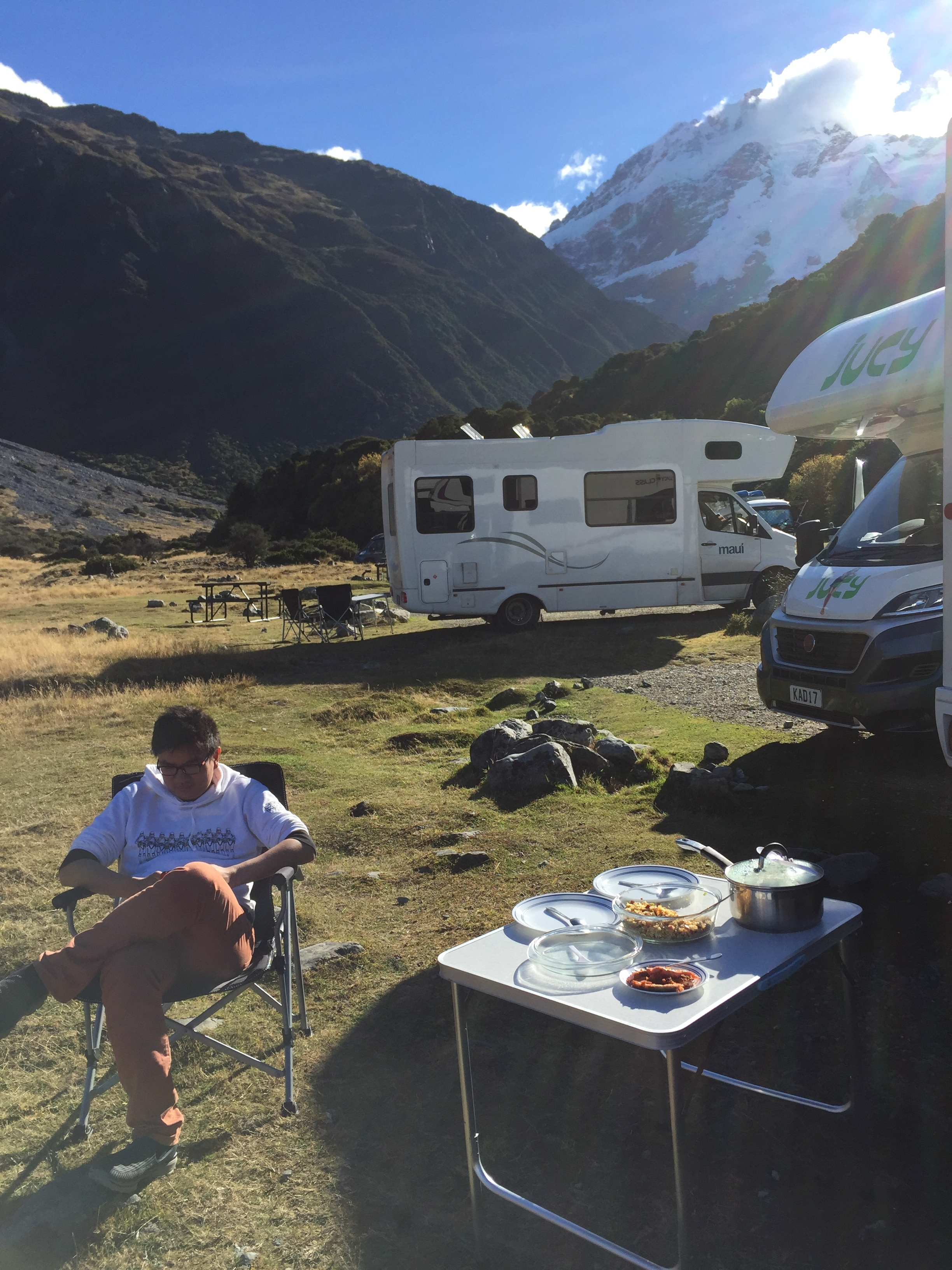 White Horse Hill Campground, Mt. Cook, 2017