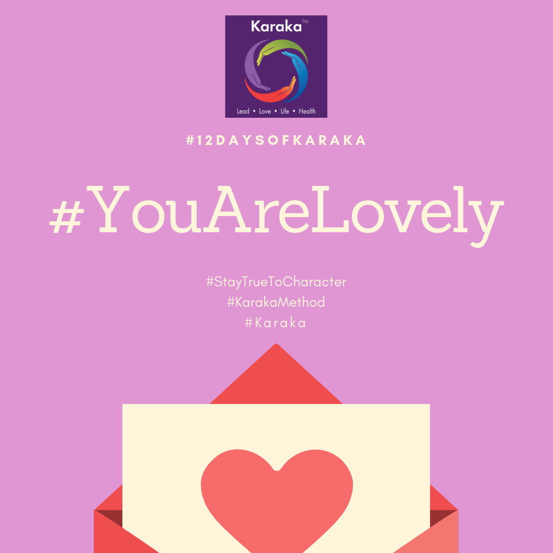 Welcome to the 7th day of the 12 days of Karaka #YouAreLovely campaign. Explore the Karaka lifestyle method exercises and share it with others. Make this your daily reminder that #YouAreLovely and enjoy a glimpse of how our Lifestyle method incorporates your true self when you LEAD, LOVE, live your LIFE and keep HEALTHY.  Day 7 - From our LIFE pillar workshops: When we think of LIFE during our LIFE pillar workshops, we start with Creativity. To integrate balance, creativity is an important part of shifting focus from LEAD and LOVE. To get the creative juices going, grab your Karaka Water bottle, and get out for your daily walk in nature, and let your creative side run wild. It works, trust me.  #YouAreLovely #karakaleadyourself #karaka #karakabeforekarma #staytruetocharacter #authentic #authenticleadership #creativity #leadership #collectivesignificance #4pillarsofkaraka #characterinlead #entrepreneur #mindfulness #mindfulleadership #mindfulconnection #meditation #meditatel #karakamethod #corporatetraining #journaling #consciousleadership #sociallysignificantactions #executiveleadership #significantlife #makeconnections #lovehumanity #consciousliving #characterandculturebydesign #boston #bostonmindfulness #12daysofKaraka #balancein4s