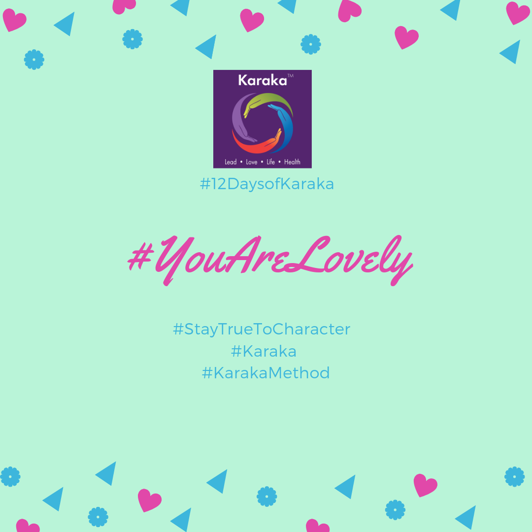 Welcome to the 8th day of the 12 days of Karaka #YouAreLovely campaign. Explore the Karaka lifestyle method exercises and share it with others. Make this your daily reminder that #YouAreLovely and enjoy a glimpse of how our Lifestyle method incorporates your true self when you LEAD, LOVE, live your LIFE and keep HEALTHY.  Day 8 - From our LIFE pillar workshops: How are you filling your week-ends? Time to reclaim our week-ends! Don't let your week-ends disappear, after long days during the week. Here are 4 tips to change things up: 1) call a friend you haven't spoken to for a while; 2) take at least 30 minutes to read a book; 3) don't skip your walk in nature; 4) in your Karaka journal, reflect on the past week and write down thoughts about the upcoming week.  #YouAreLovely #karakaleadyourself #karaka #karakabeforekarma #staytruetocharacter #authentic #authenticleadership #connection #leadership #collectivesignificance #4pillarsofkaraka #characterinlead #entrepreneur #mindfulness #mindfulleadership #mindfulconnection #meditation #meditatel #karakamethod #corporatetraining #journaling #consciousleadership #sociallysignificantactions #executiveleadership #significantlife #makeconnections #lovehumanity #consciousliving #characterandculturebydesign #boston #bostonmindfulness #12daysofKaraka