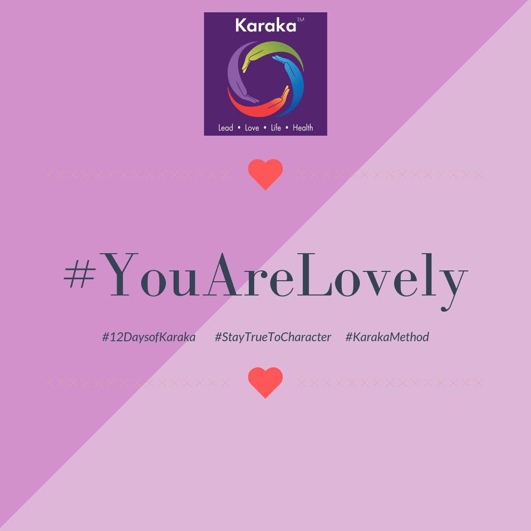 Welcome to the 9th day of the 12 days of Karaka #YouAreLovely campaign. Explore the Karaka lifestyle method exercises and share it with others. Make this your daily reminder that #YouAreLovely and enjoy a glimpse of how our Lifestyle method incorporates your true self when you LEAD, LOVE, live your LIFE and keep HEALTHY.  Day 9 - From our LIFE pillar workshops: Getting organized is one of the key ways to incorporate balance integration. Take a few minutes during the week to start organizing a space that has been neglected for a while. A closet, a kitchen cabinet, an office drawer. Anything which allows you to take the time to nurture the space and give you a break from routine. Use your Karaka journal to get it on your to do list and check off one of your achievable goals.  #YouAreLovely #karakaleadyourself #karaka #karakabeforekarma #staytruetocharacter #authentic #authenticleadership #connection #leadership #collectivesignificance #4pillarsofkaraka #characterinlead #entrepreneur #mindfulness #mindfulleadership #mindfulconnection #meditation #meditate #karakamethod #corporatetraining #journaling #consciousleadership #sociallysignificantactions #executiveleadership #significantlife #makeconnections #lovehumanity #consciousliving #characterandculturebydesig #boston #bostonmindfulness #12daysofKaraka