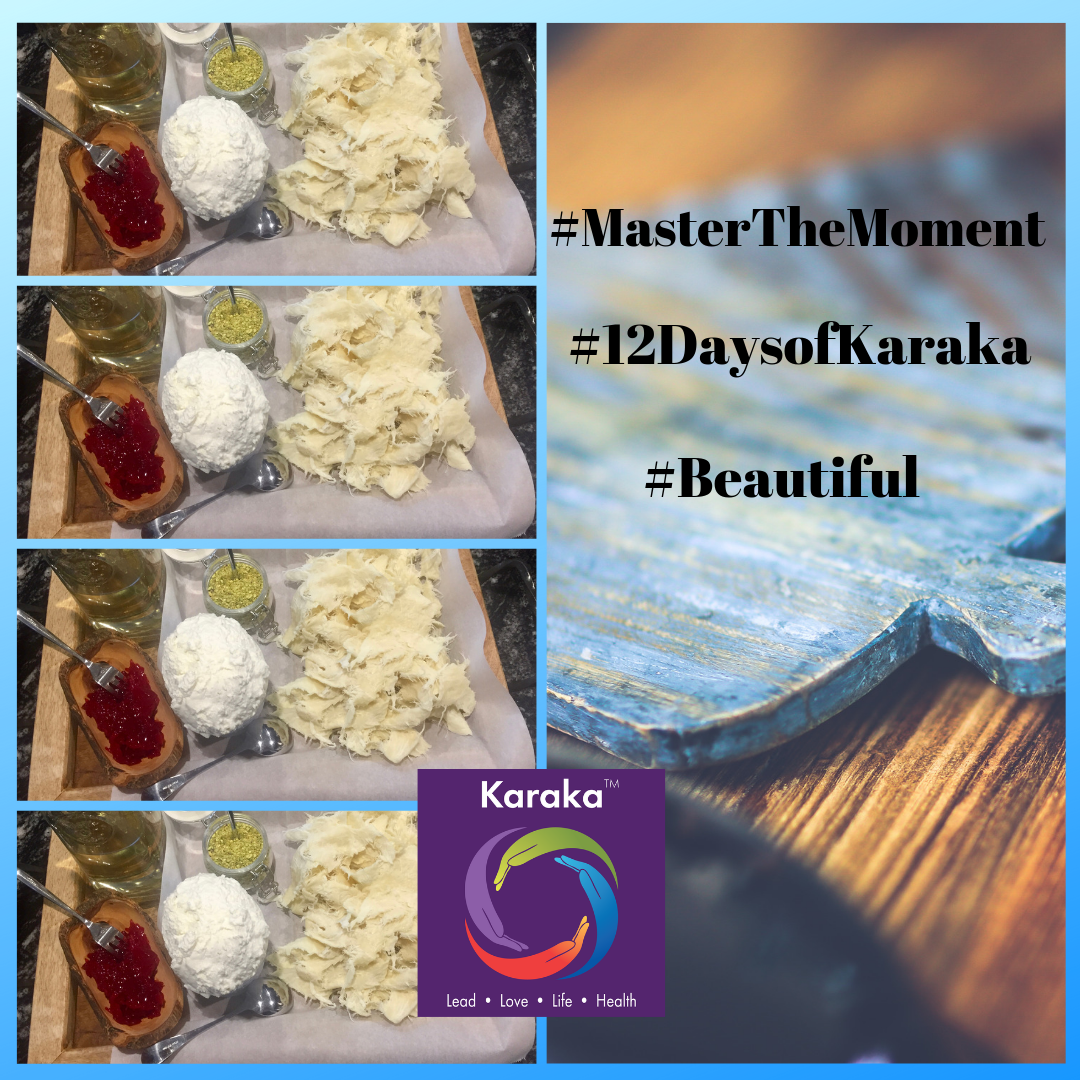 "We are at day 6 of our 12 days of Karaka #MasterTheMoment campaign. Today's campaign contribution is a personal story. We were at a gathering for Memorial Day week-end. It was dessert time and as the host was putting together a Middle Eastern specialty (Halawat El Jibn), I was at a loss for words on how to describe the moment. She put together pieces so artfully from start to finish that all I could see was a beautiful soul creating a beautiful outcome. I wanted to capture the moment and not let it slip, I took a picture. I am now choosing the word to describe the embodied sight and feeling from start to finish - it was ""beautiful"". The smell, the vision, the taste - all of was just beautiful. I can share the picture I took with you, but the art and the beauty was in the moment.  #12DaysofKaraka #Karaka #KarakaLEAD #MasterTheMoment #WholeBeing #CollectiveSignificance #SociallySignificantActions #Consciousness #Mindfulness #AuthenticLeadership #KarakaMethod #KarakaLifestyle #StayTrueToCharacter #MindfulMoment #BostonMindfulness #NewEngland #Wellness #Leadership #4PillarsofKaraka #KarakaLEADYourself #BalanceIntegration #Balancein4s #HalawatElJibn #Lebanese #Lebanon #meditate #balance #joy #relationship #resilience #connection #authenticity #visionary"