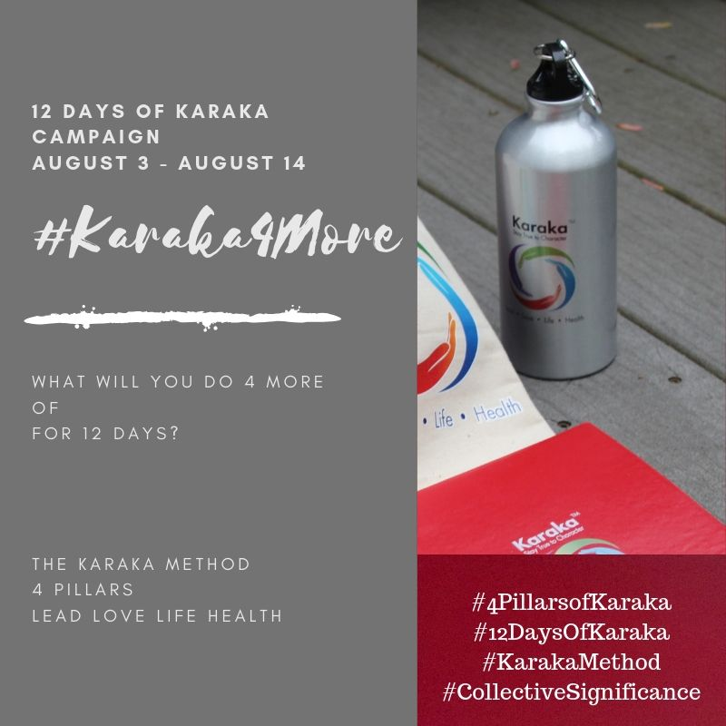 "What will you do 4 more of on your third day of Karaka4More?  Day 3 - #Karaka4More  Today we will focus on the Karaka Method #LIFEPillar. Here are some suggestions on 4 more positive thoughts and acts:  1)Start a new book. Pick one which is not necessarily the 'genre' you would naturally opt for. It offers a window to new perspectives.  2)Watch the sunrise or sunset.  3)Make someone smile or laugh.  4)Say this today to yourself ""Life is miraculous and beautiful"". Recommended 4 times daily spread throughout your day.  Feel free to customize as you please for your own day.  We would be happy to hear from you on how you're progressing on the #Karaka4More positivity campaign. Drop us a line!  Stay True to Character.  #Karaka #12DaysofKaraka #KarakaLEAD #Karaka4More #MindBodySpirit #CollectiveSignificance #SociallySignificantActions #LEADPillar #Consciousness #Mindfulness #AuthenticLeadership #KarakaMethod #KarakaLifestyle #StayTrueToCharacter #LOVEPillar #BostonMindfulness #LIFEPillar #Wellness #Leadership #4PillarsofKaraka #HEALTHPillar #BalanceIntegration #Balancein4s #BalancedLifestyle #meditate #balance #Positivity #Spark #Happiness #resilience #connection #authenticity #selflove #Love#ChageStartsfromWithin #StartFromSpirit #Growth #manifest #positivethoughts #affirmations #powerofpositivity #wisdom"