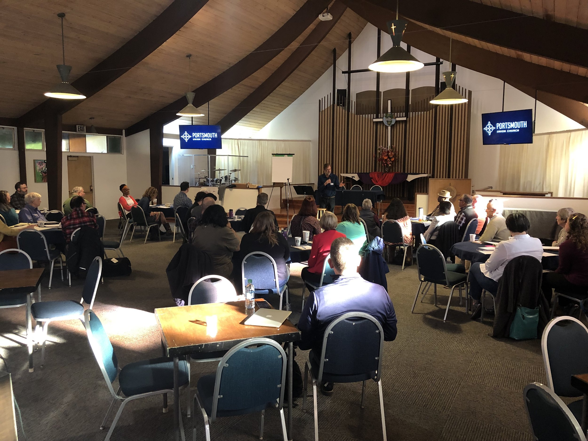 Churches Gather to Address Affordable Housing Crisis - UMOI | 10/29/2018Recently more than 40 individuals from congregations throughout the Greater Portland Area gathered to discuss how they could best address the affordable housing crisis. They met on October 13th at Portsmouth Union Church, which is led by Pastors Julia Nielsen and Andy Goebel.[Read More...]