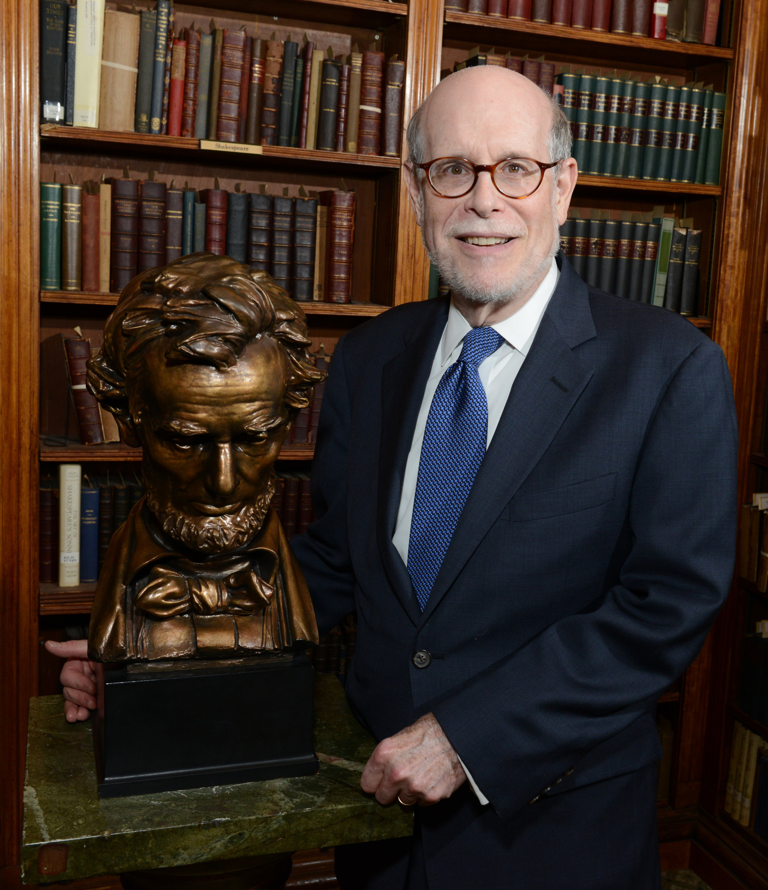 Harold Holzer with Lincoln Prize April 2015  Photo by Don Pollard (002).jpg