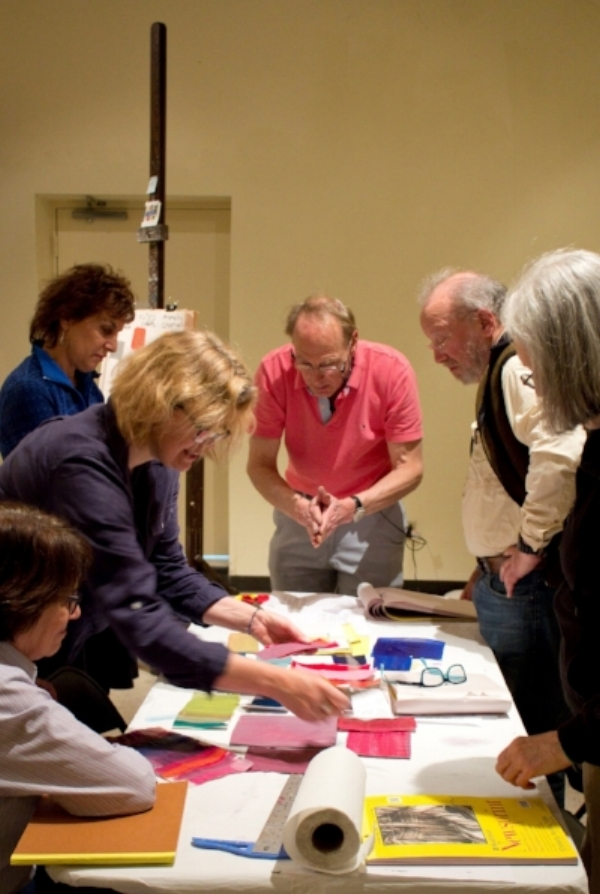 Kinney Frelinghuysen leads an adult creative workshop at the site. Courtesy Frelinghuysen Morris Houses & Studio