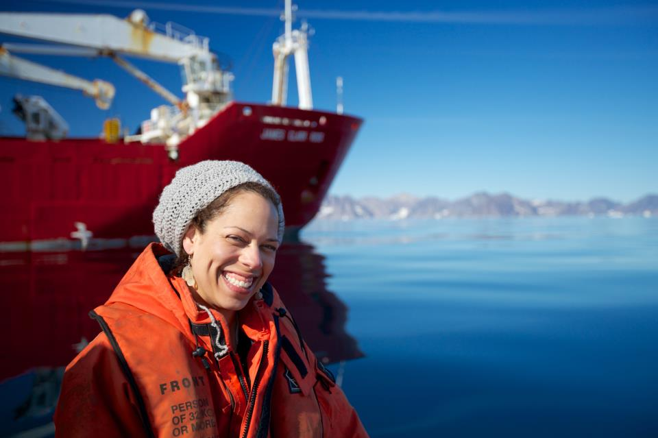 Rachel Fletcher off the coast of Greenland. Photo Credit: Sindre Skedre