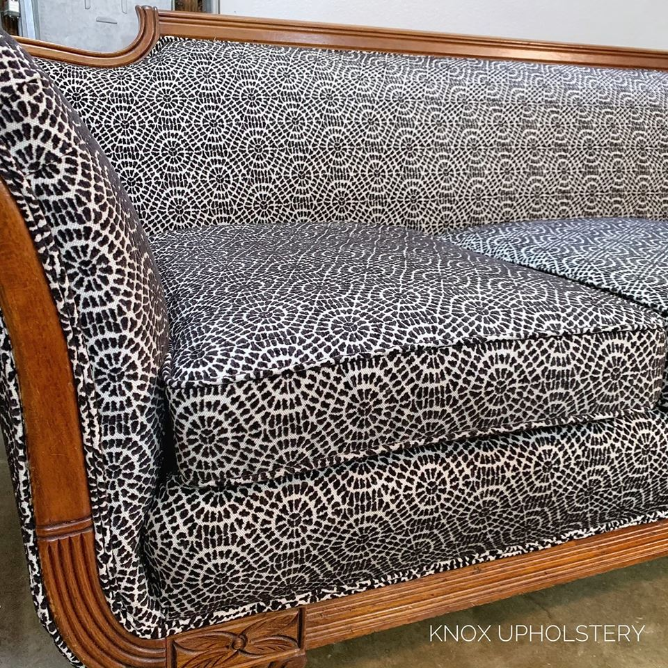 Phyfe sofa upholstered by Knox Upholstery in Knoxville, Tennessee