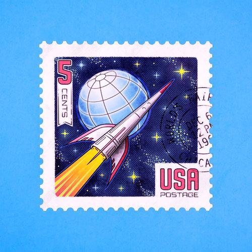 Space Race Sticker