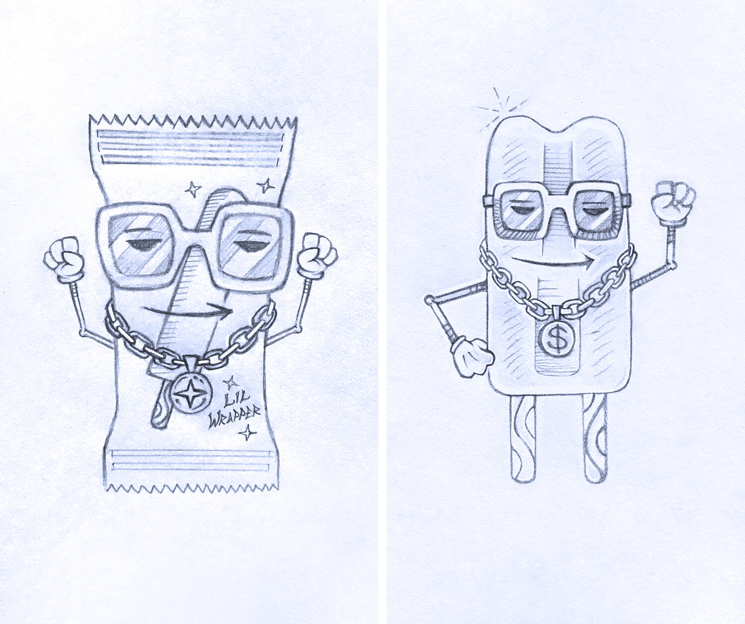 Lil Wrapper Concept Sketches