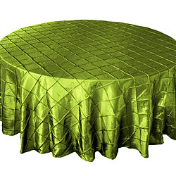Sage Pintuck Table Cover   Call to Reserve