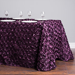 Purple Rosette Table Cover   Call to Reserve