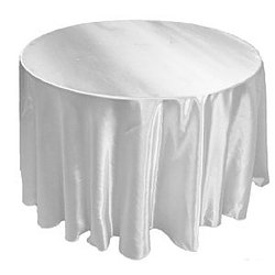 White Satin Table Cover   Call to Reserve