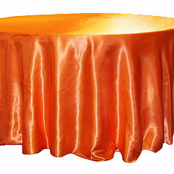 Orange Satin Table Cover   Call to Reserve