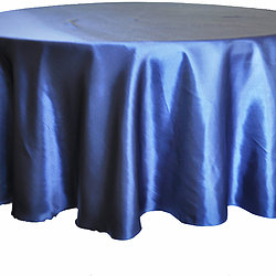 Navy Blue Satin Table Cover   Call to Reserve