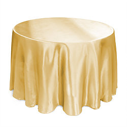 Gold Satin Table Cover   Call to Reserve
