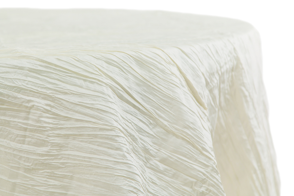Ivory Crused Satin Cover  Reserve Now