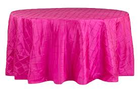 Hot Pink Pintuck Table Cover   Call to Reserve