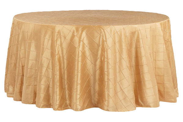Gold Pintuck Table Cover  Call to Reserve