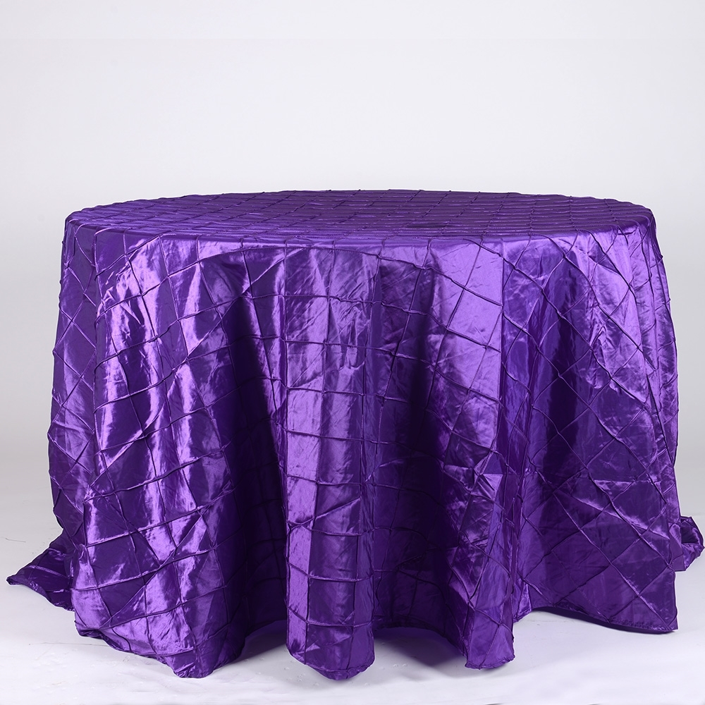 Purple Pintuck Table Cover   Call to Reserve