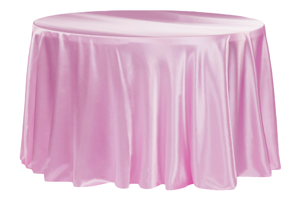 Pink Satin Table Cover   Call to Reserve