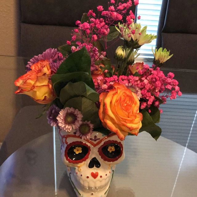 Mexican centerpiece samples for our clients !  #elpaso #mexican #centerpieces #floral #mexicantheme #915 #skull #mexicanskull #planner