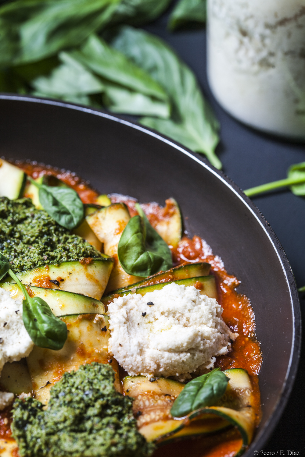 Laura Wright's Vegan Skillet Lasagna with Zucchini noodles for the win.