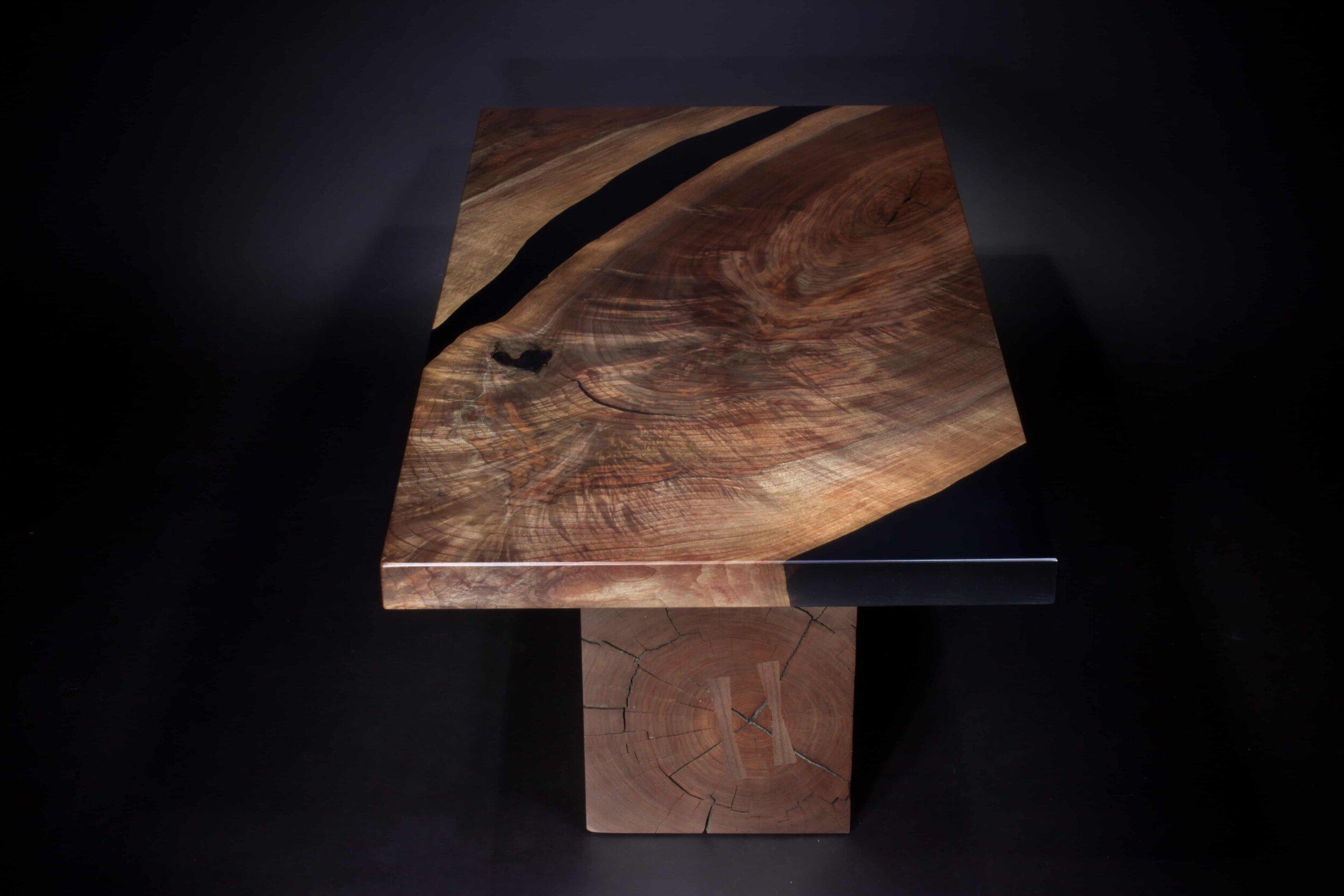 black epoxy walnut table min