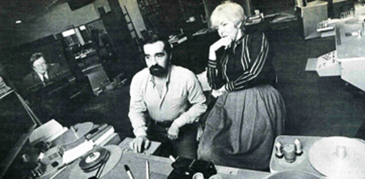 Scorsese and Schoonmaker in the edit suite
