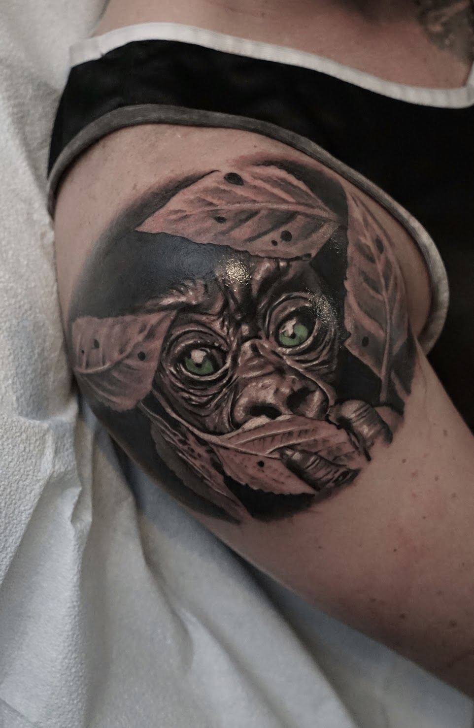 Photorealistic animal tattoo by Scoot Ink