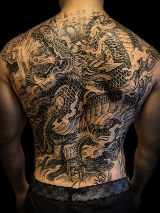 Asian style dragon tattoo by Winson Tsai