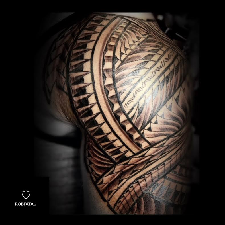 Polynesian tribal tattoo by Robtatau