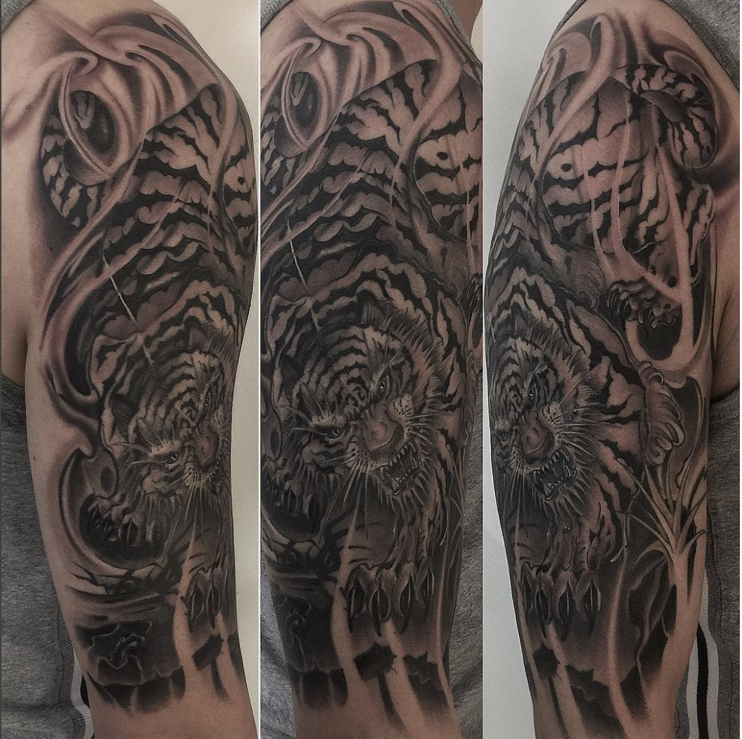 Tiger tattoo by  Master Shark