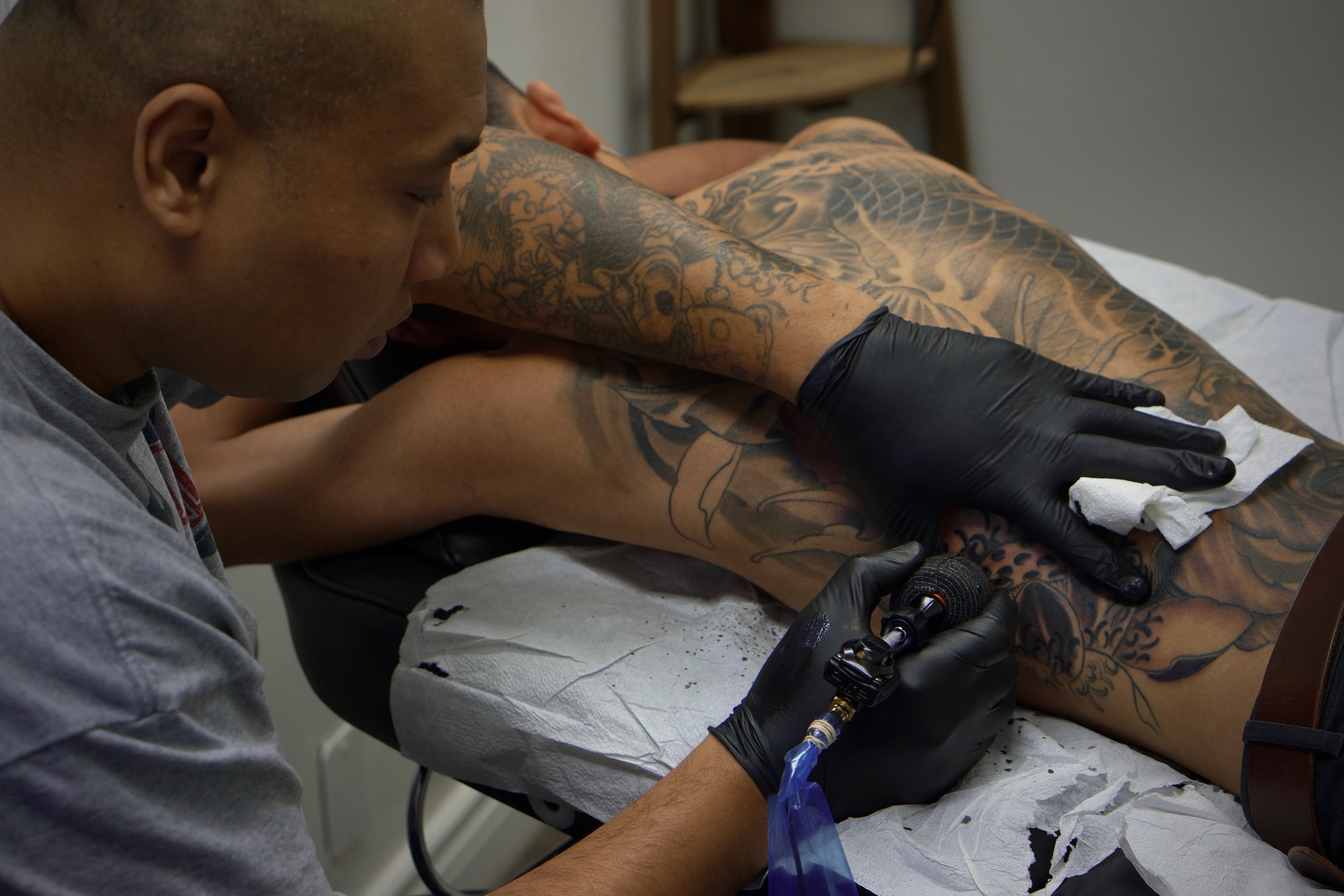 Shark specializes in asian style tattoos in Toronto, ON. Find him on pick the ink.com. @master_shark