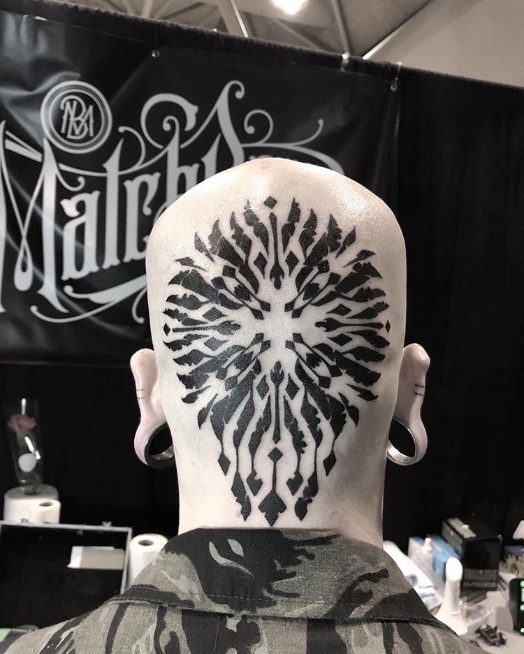 Custom mandala tattoo by Alveno