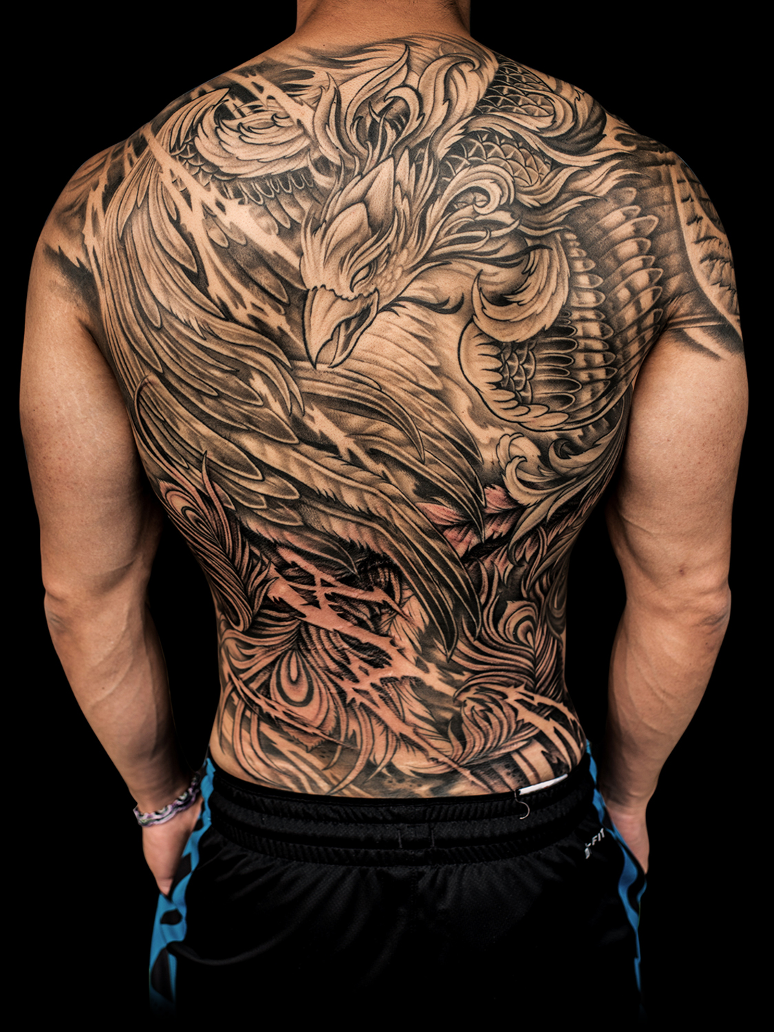 Asian style phoenix tattoo by Winson Tsai