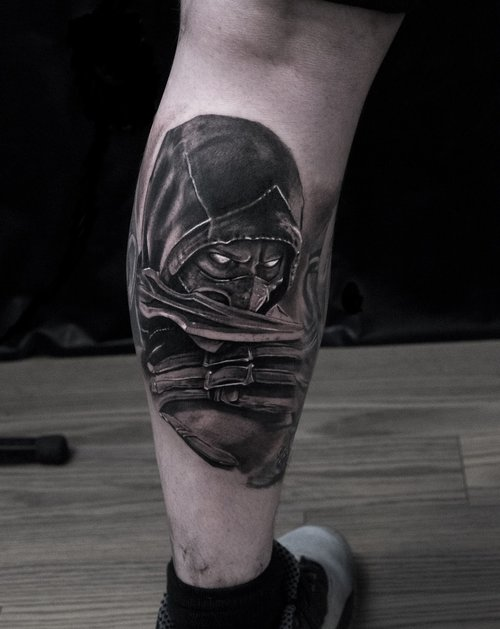 Photorealistic scorpion tattoo by Scoot Ink