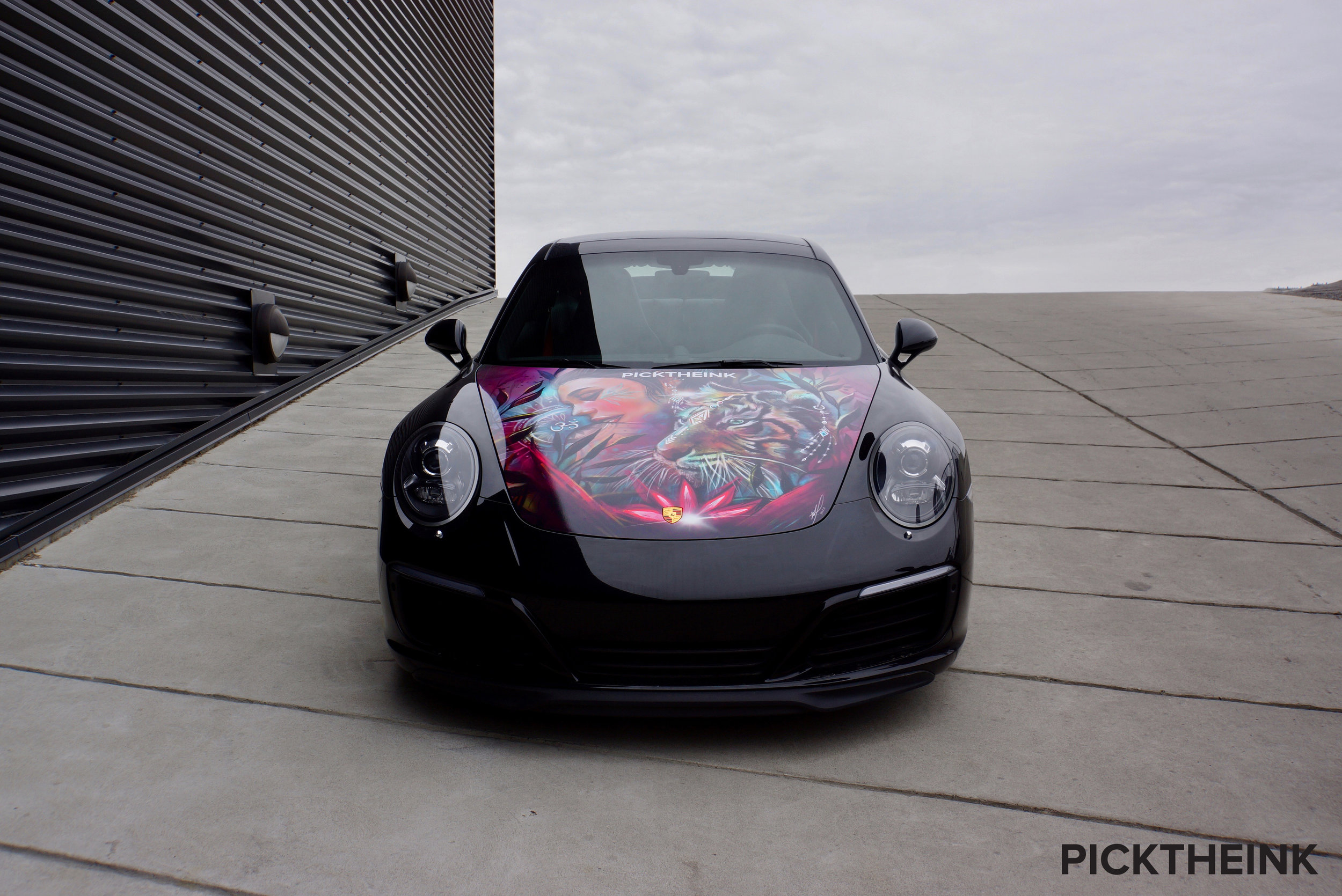 The black Porsche 911 designed by  Nico Canon