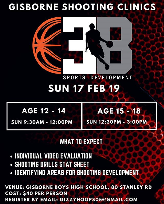 Happy to announce my 1st Gisborne Trip. I know the amount of raw talent produced in the East Coast. Excited to help inspire and develop the game of Basketball in this region. #ebnation #gizzyhoops