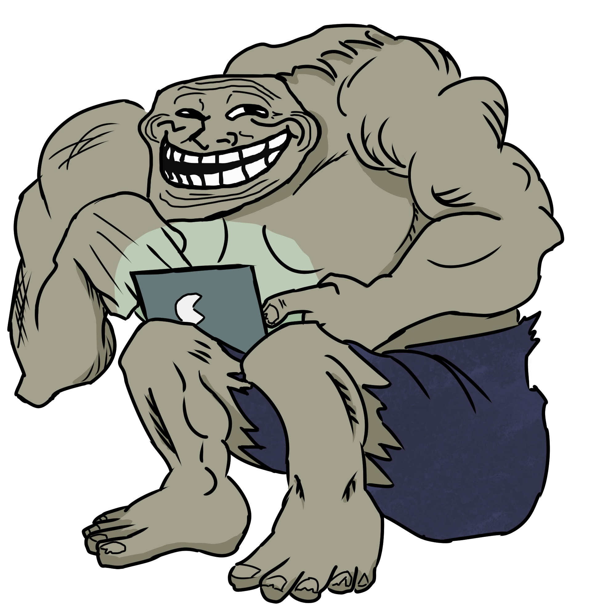 """Internet Troll"" from ""Men are Monsters"" series"