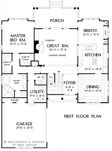 A first-floor master bedroom eliminates the need to travel up stairs to go to sleep, as shown in this  Newcastle floor plan.