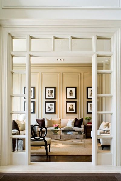 Larger  doorways not only create a more accessible space but also offer a beautiful aesthetic.