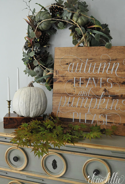 Hand-letter a wooden pallet for a personal touch on your decor.