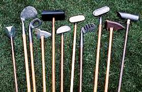 Antique golf club set.